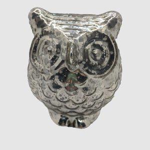 Metallic Foil Glass Owl Candle Light (NWOT)